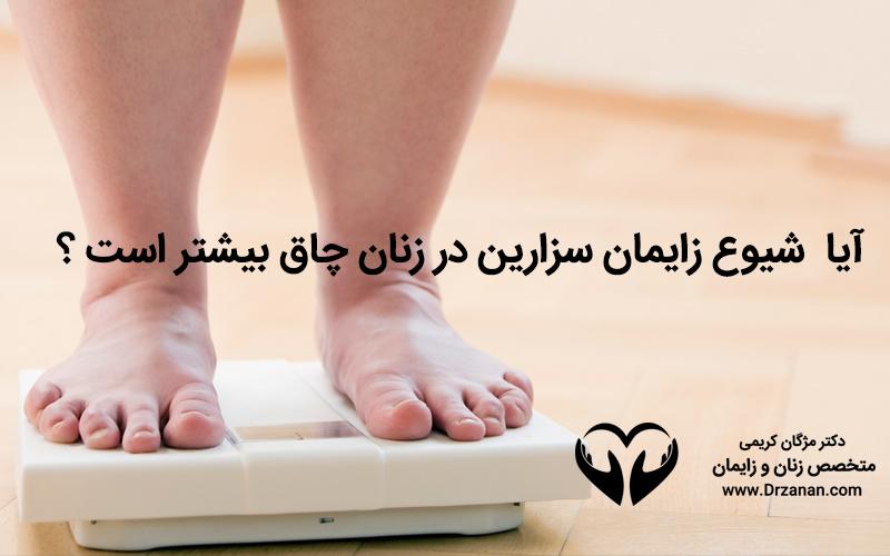 آیا شیوع زایمان سزارین در زنان چاق بیشتر است ؟